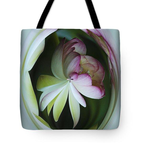 Lotus Mirror Tote Bag by Jean Noren