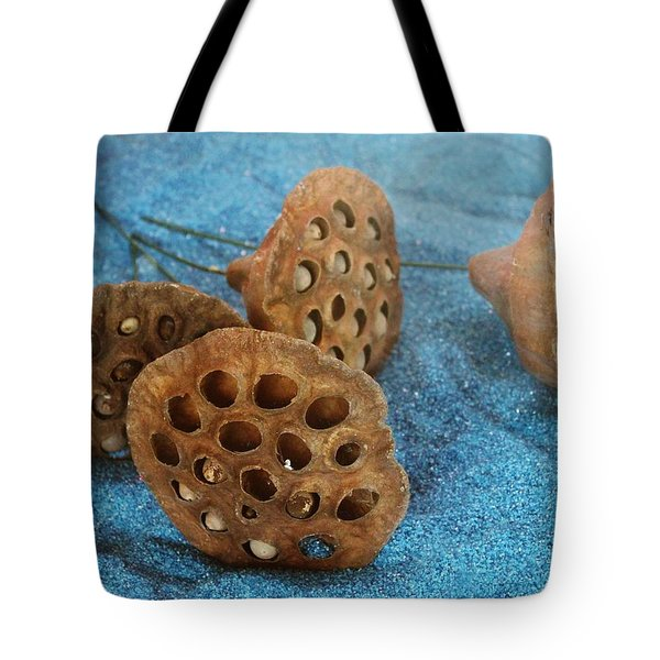 Tote Bag featuring the photograph Lotus Pods by Diane Alexander