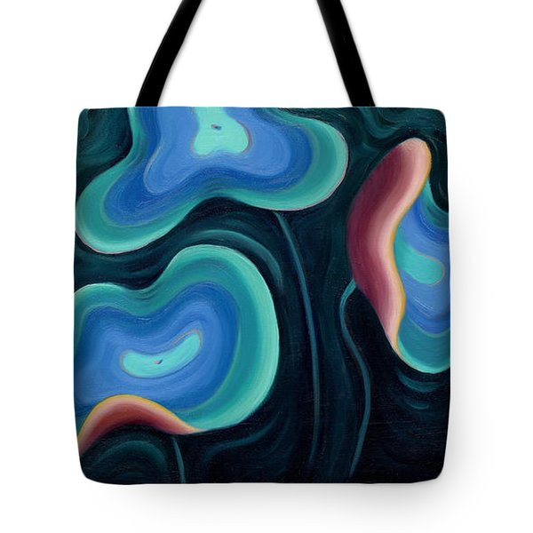 Tote Bag featuring the painting Lotus Reggae by Sandi Whetzel