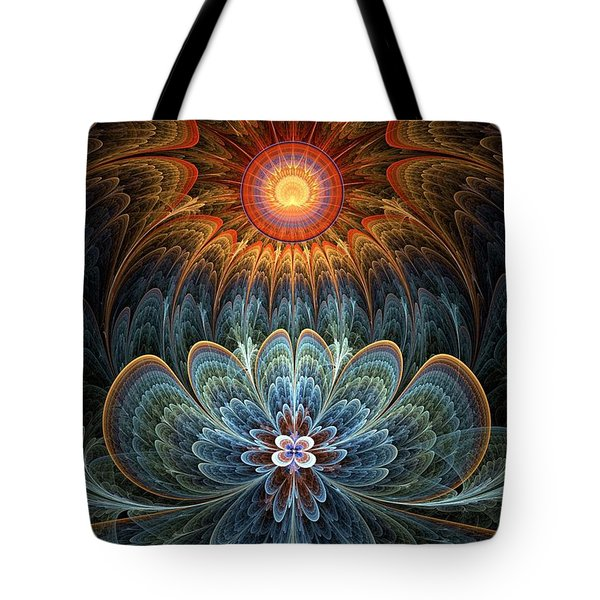 Lotus Rising Tote Bag by Kim Redd