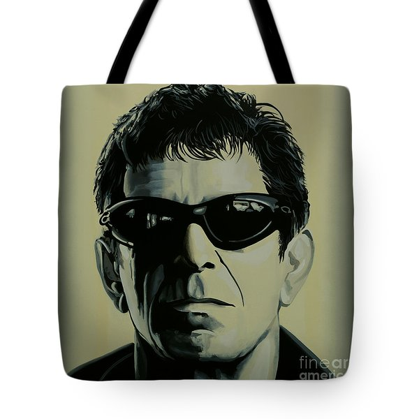 Lou Reed Painting Tote Bag