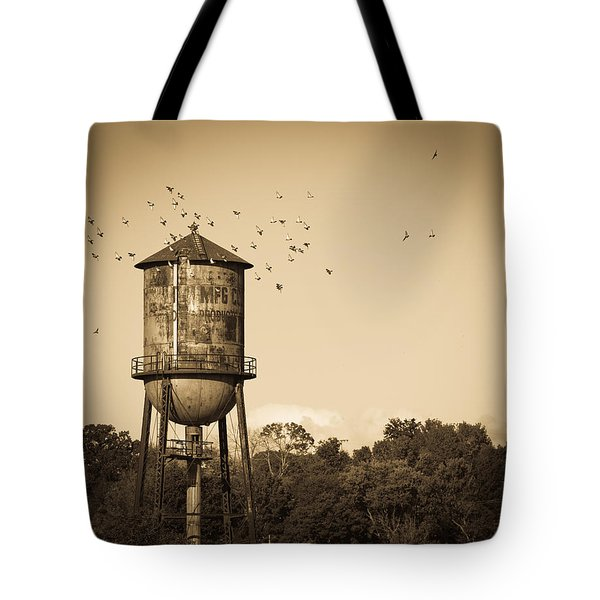 Loudon Water Tower Tote Bag by Melinda Fawver