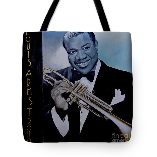 Louis Armstrong Tote Bag by Chelle Brantley