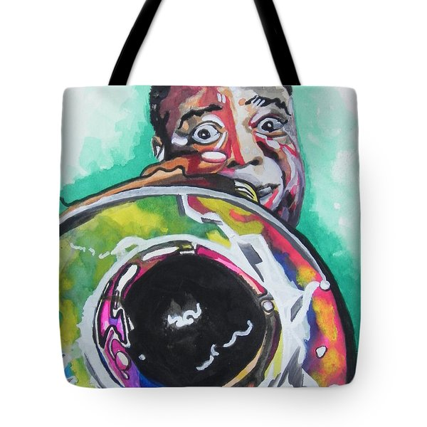 Louis Armstrong Tote Bag by Chrisann Ellis