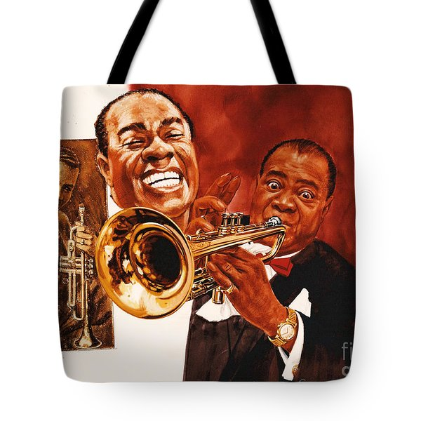 Louis Armstrong Tote Bag by Dick Bobnick