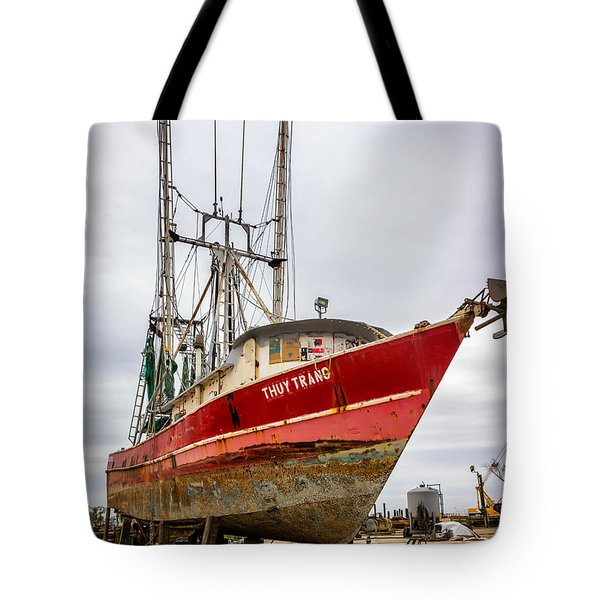 Louisiana Shrimp Boat 2 Tote Bag by Steve Harrington