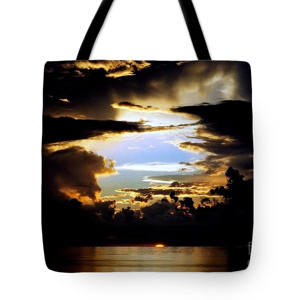 Louisiana Sunset Blue In The Gulf  Of Mexico Tote Bag