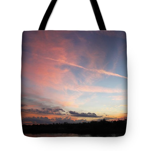 Tote Bag featuring the photograph Louisiana Sunset In Lacombe by Luana K Perez