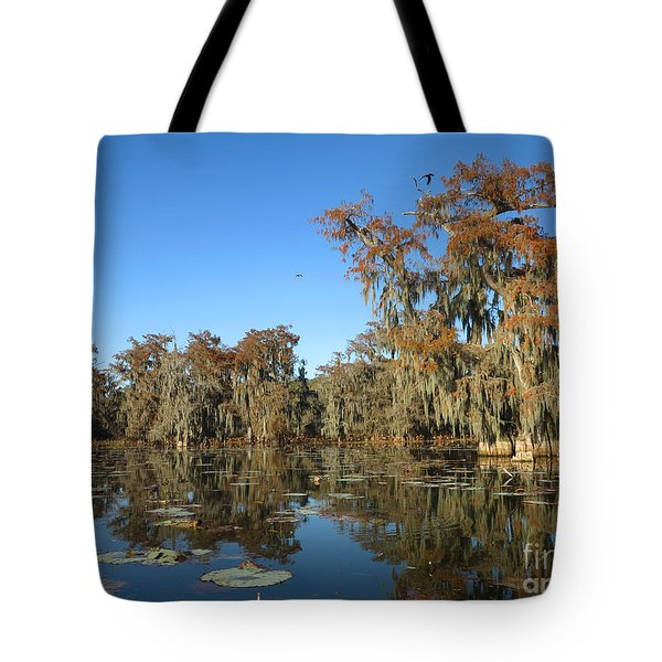 Tote Bag featuring the photograph Louisiana Swamp by Martin Konopacki