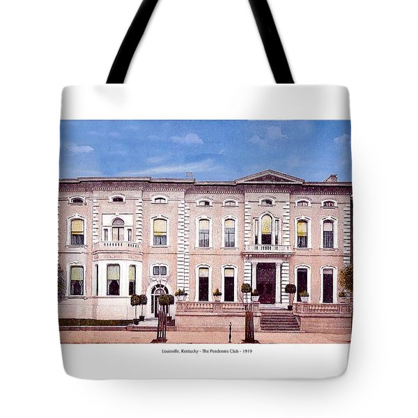 Louisville Kentucky - The Pendennis Club - 1919 Tote Bag