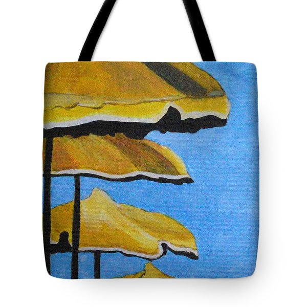 Lounging Under The Umbrellas On A Bright Sunny Day Tote Bag
