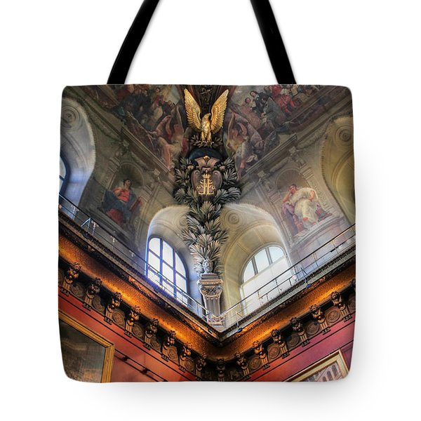 Tote Bag featuring the photograph Louvre Ceiling by Glenn DiPaola