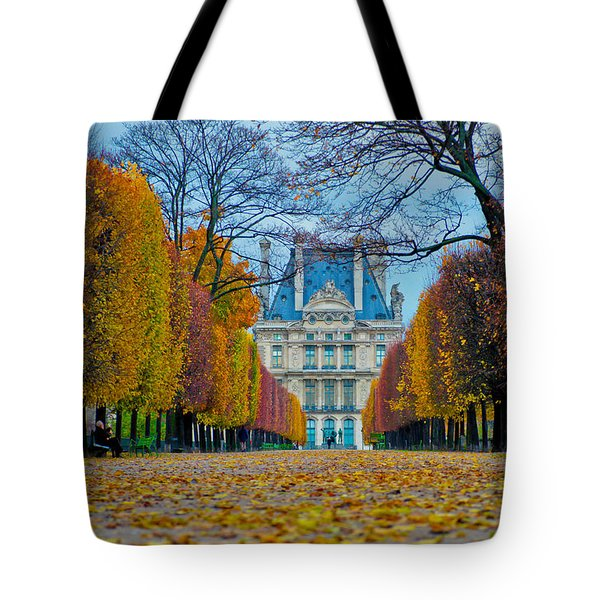 Louvre In Fall Tote Bag
