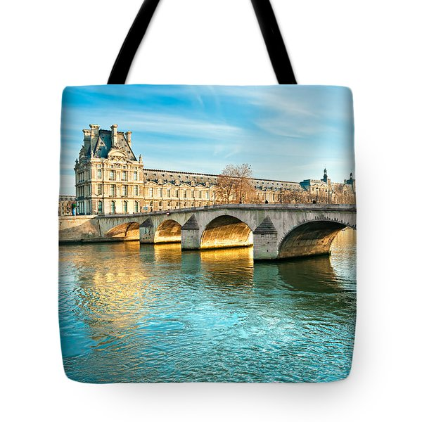 Louvre Museum And Pont Royal - Paris  Tote Bag