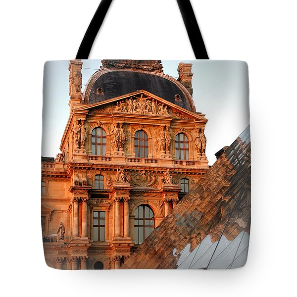 Tote Bag featuring the photograph Louvre And Pei by Jacqueline M Lewis