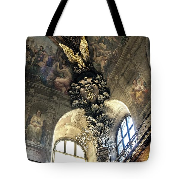 Louvre With A View Denise Dube Tote Bag
