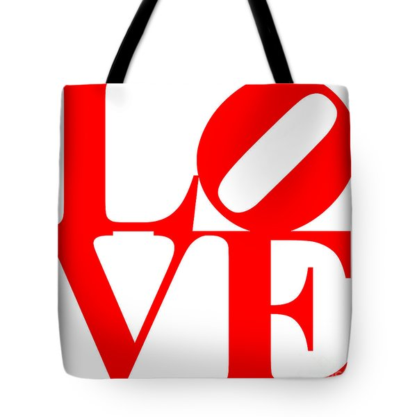 Love 20130707 Red White Tote Bag