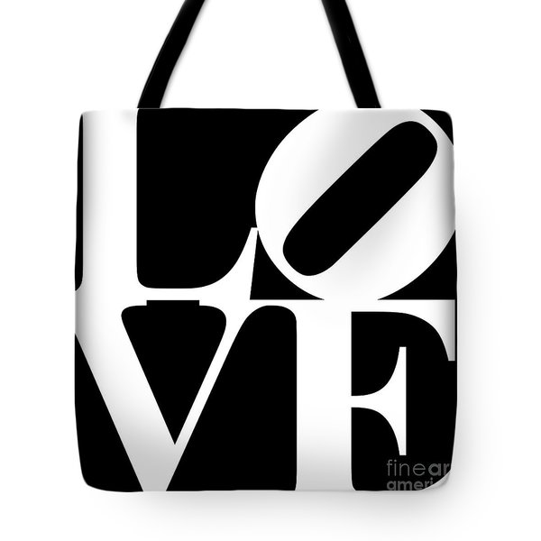 Love 20130707 White Black Tote Bag
