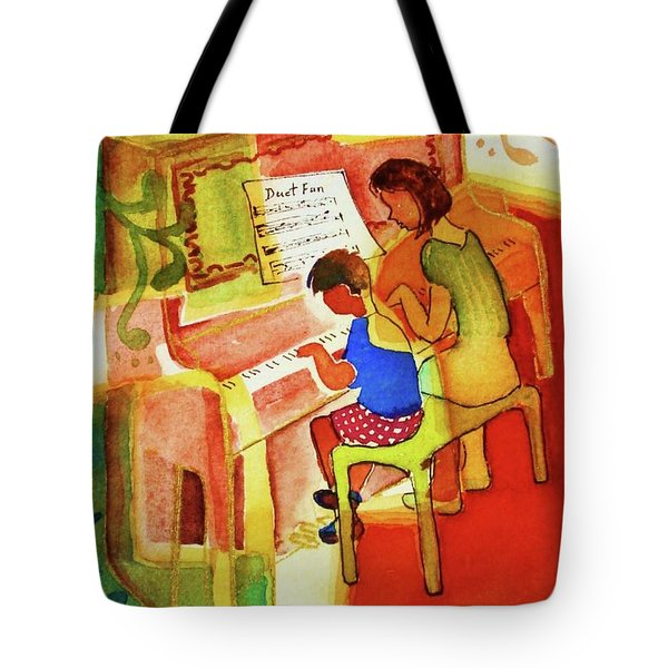 Love A Piano 2 Tote Bag by Marilyn Jacobson