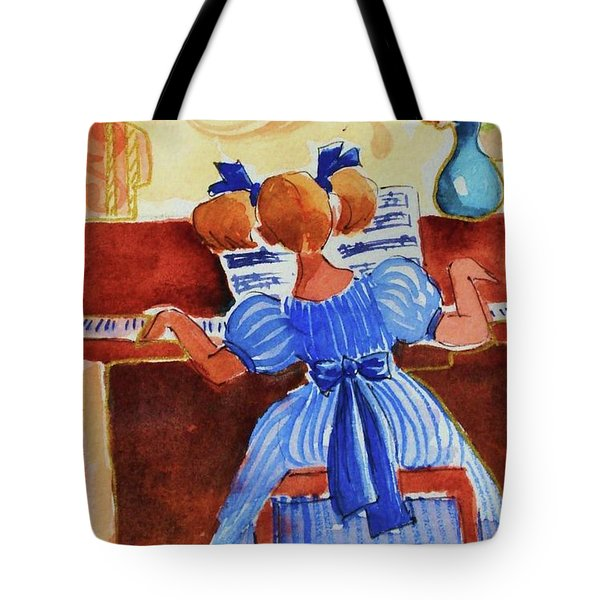 Love A Piano 3 Tote Bag by Marilyn Jacobson