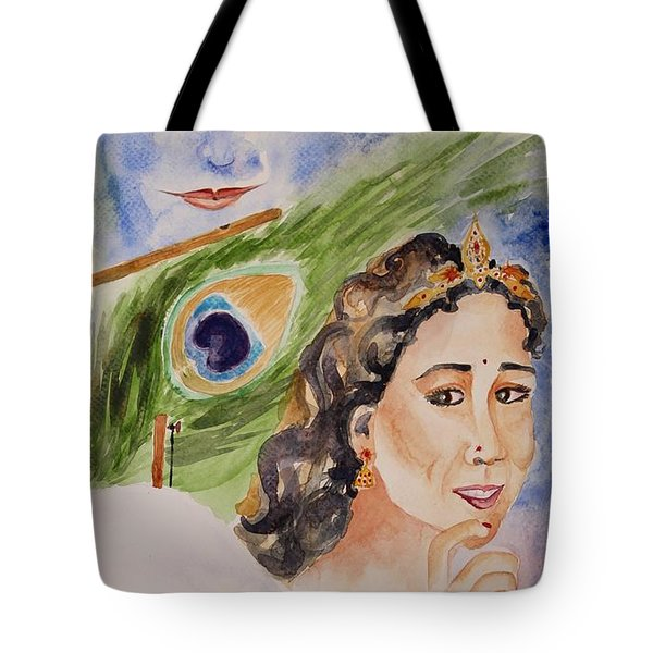 Tote Bag featuring the painting Love And Devotion by Geeta Biswas