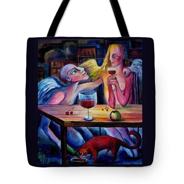 Love And Friendship Tote Bag by Elisheva Nesis