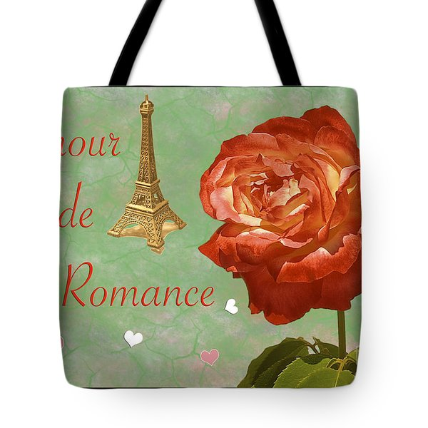 Love And Romance Tote Bag by Claudia Ellis