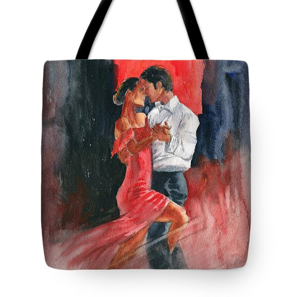 Love And Tango Tote Bag by Melly Terpening