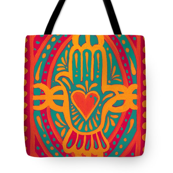 Tote Bag featuring the painting Love And Wealth To You by Nada Meeks