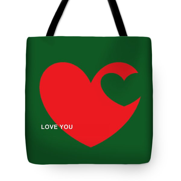Tote Bag featuring the mixed media Love by Andrew Drozdowicz