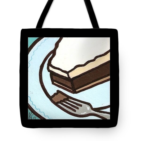 Love At First Bite Chocolate Cream Pie Tote Bag by Jim Harris