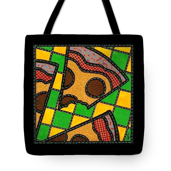 Love At First Bite Pepperoni Pizza Tote Bag by Jim Harris