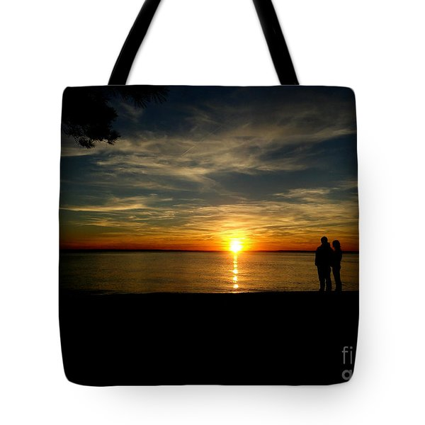 Love At Sunset Tote Bag