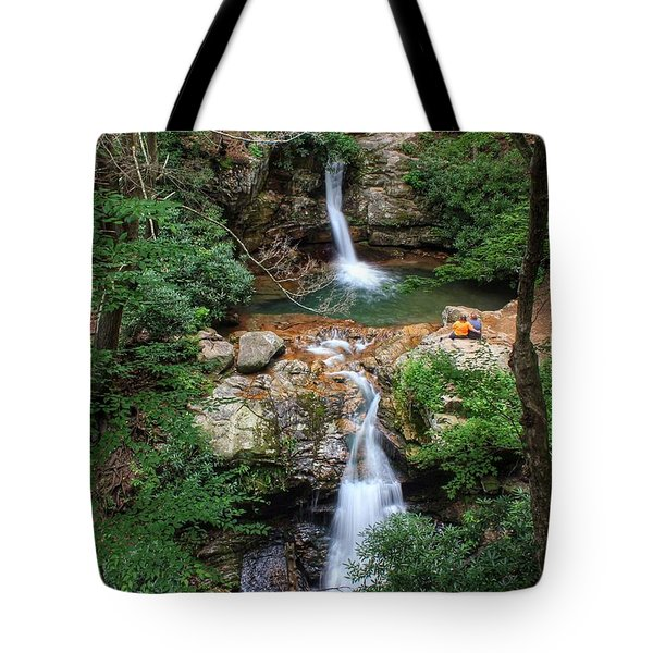 Love At The Blue Hole Tote Bag