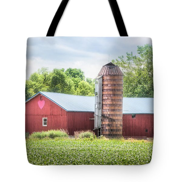 Tote Bag featuring the photograph Love Barn by Gary Heller