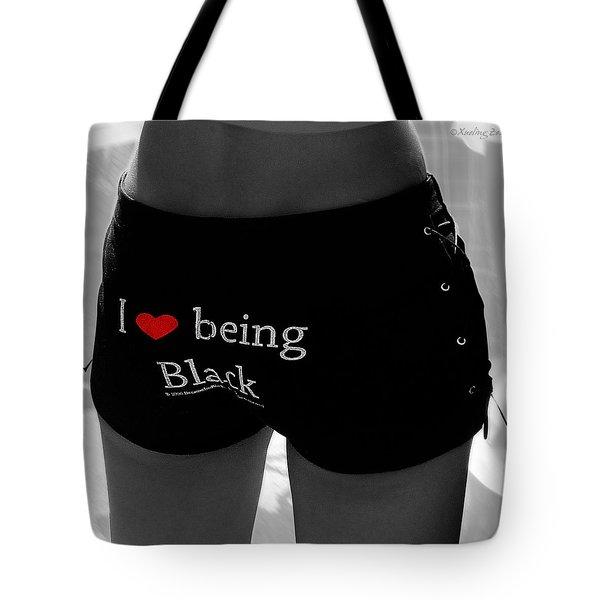 Love Being Black Tote Bag
