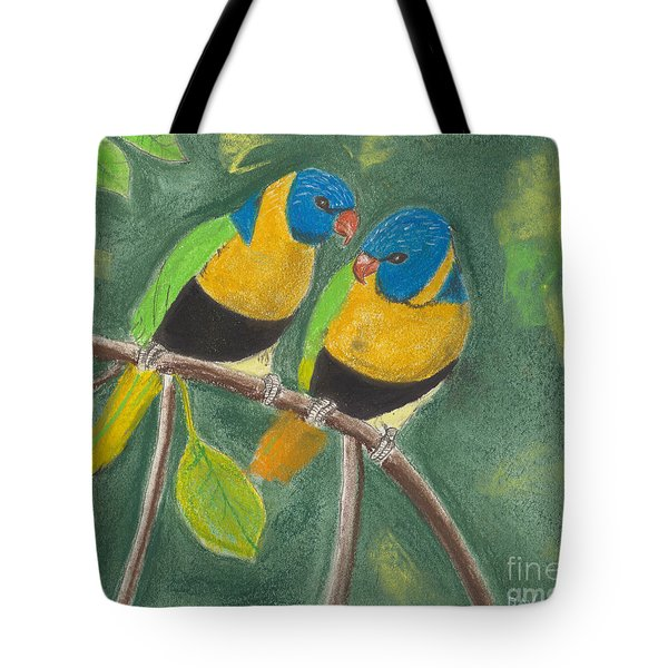 Love Birds Tote Bag by David Jackson
