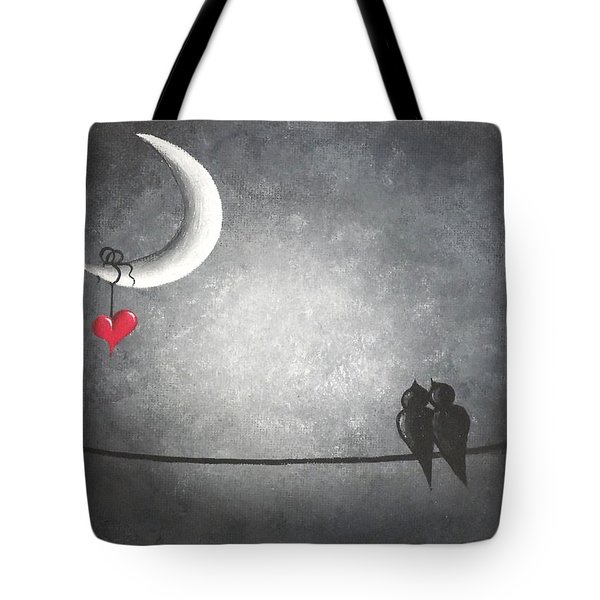 Love Birds Tote Bag by Oddball Art Co by Lizzy Love