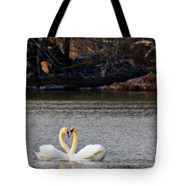 Love Birds Tote Bag by Richard Engelbrecht