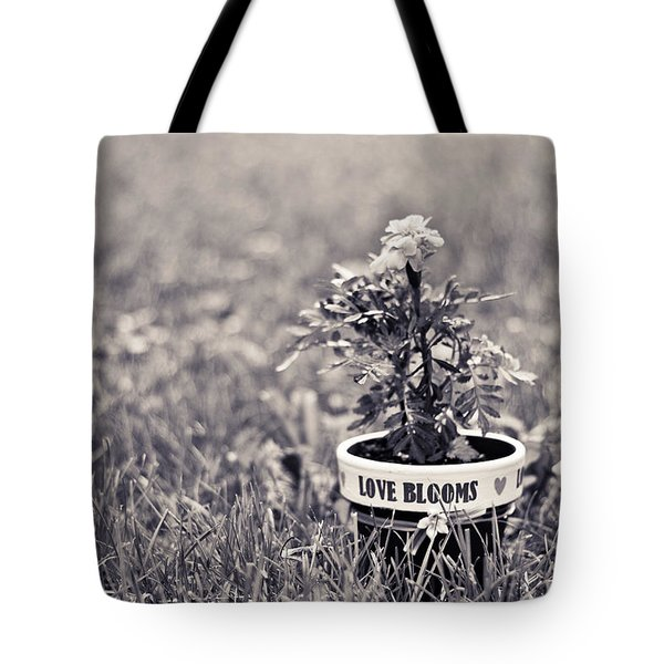 Tote Bag featuring the photograph Love Blooms by Sara Frank