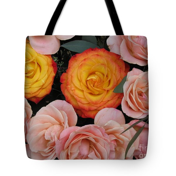 Love Bouquet Tote Bag by HEVi FineArt