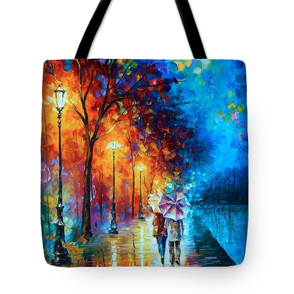 Love By The Lake Tote Bag by Leonid Afremov