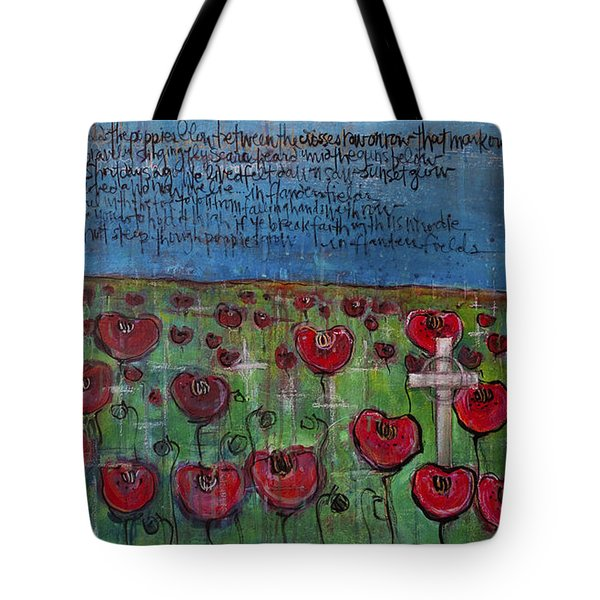 Love For Flanders Fields Poppies Tote Bag by Laurie Maves ART