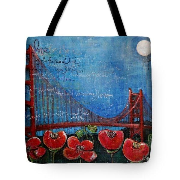 Love For San Francisco Tote Bag