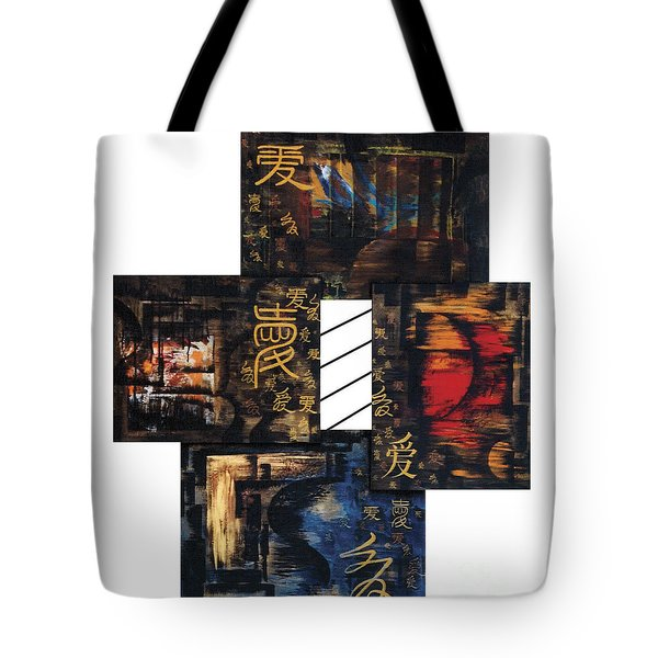 Tote Bag featuring the painting Love Four Seasons by Fei A