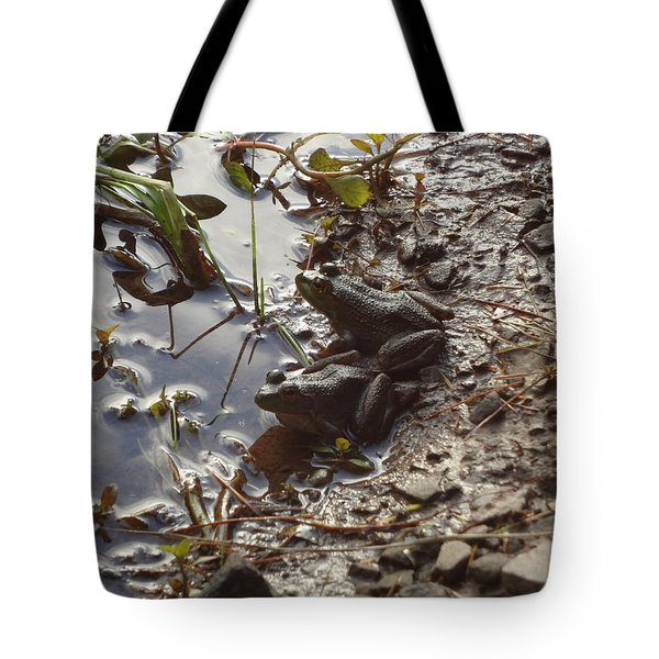 Love Frogs Tote Bag by Michael Porchik