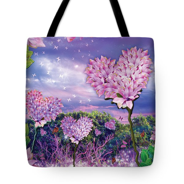 Love Garden 3 Tote Bag by Alixandra Mullins