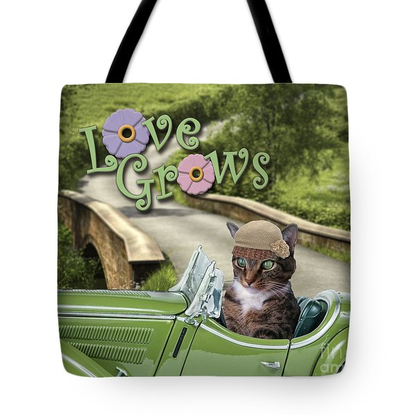 Tote Bag featuring the digital art Love Grows by Kathy Tarochione