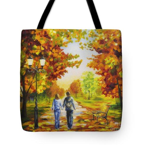 Love In Autumn Tote Bag