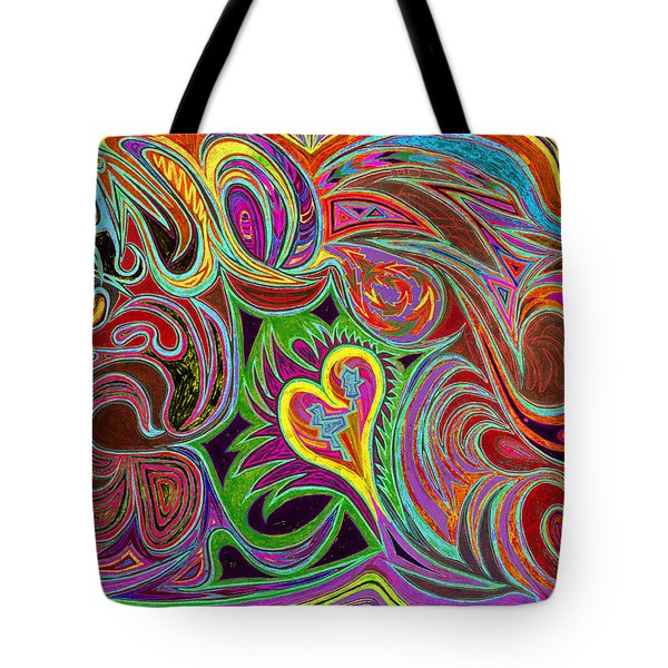 love in every shade of U v7 - love in every shade of blue Tote Bag